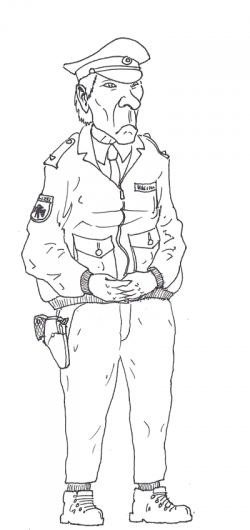 Bored German Policeman